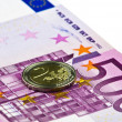 Euro,isolated — Stock Photo