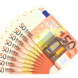 50 euro banknotes, isolated — Stock Photo