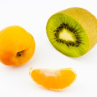 Apricot, kiwi fruit - Stok fotoraf