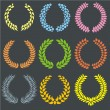 Vecteur: Set of laurel wreaths