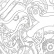 Stok Vektör: Seamless pattern of gears