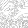 Stockvektor : Seamless pattern of gears