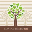 Royalty-Free Stock Vektorgrafik: Valentine tree with hearts