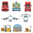 Royalty-Free Stock Vector Image: Logistic icons
