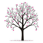 Valentine tree with hearts — Stock Vector