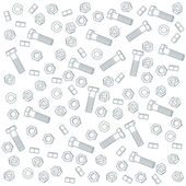 Seamless nuts and bolts — Stock Vector