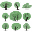 Vector trees — Stock Vector