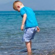 Little boy enjoying his holiday — Stock Photo