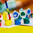 Kids Paint Pots — Stock Photo