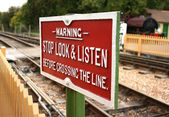 Stop, look & listen — Stockfoto