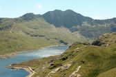 View from mount snowdon - Wales — Stock Photo