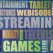 Streaming Word Montage — Stock Photo