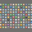 Social media classic icons — Stock vektor