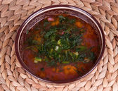 Traditional soup kharcho — Stock Photo
