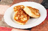 Delicious homemade pancakes — Stock Photo