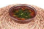 Traditional soup kharcho — Stock Photo