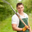 Stock Photo: Man with pitchfork