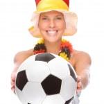 Duitse voetbal fan — Stockfoto