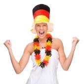 German soccer fan — Stock Photo