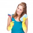 Cleaning lady — Stock Photo #9222657