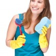 Cleaning lady — Stock Photo