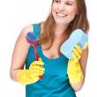 Cleaning lady — Stock Photo #9222659