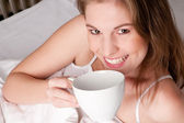 Woman with cup — Stockfoto