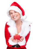 Christmas woman — Foto Stock