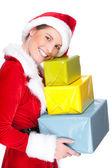 Vánoční žena — Stock fotografie