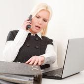 Businesswoman at work — Stok fotoğraf