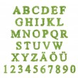 Alphabet with green grass letter — Stock Photo