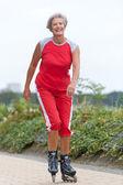Donna attiva senior — Foto Stock