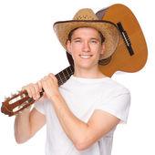 Uomo con chitarra — Foto Stock