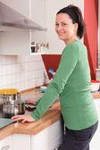 Dans la cuisine — Photo