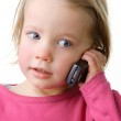 Child with cell — Stock Photo #9498542