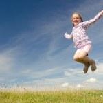 Happy little girl — Stock Photo #9499654