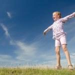 Happy little girl — Stock Photo #9499657