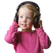 Child with headset — Stock Photo