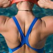 Bodypart from a athletic swimmer — Stock Photo