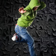 Hip Hop dancer on a street in the night — Stock Photo