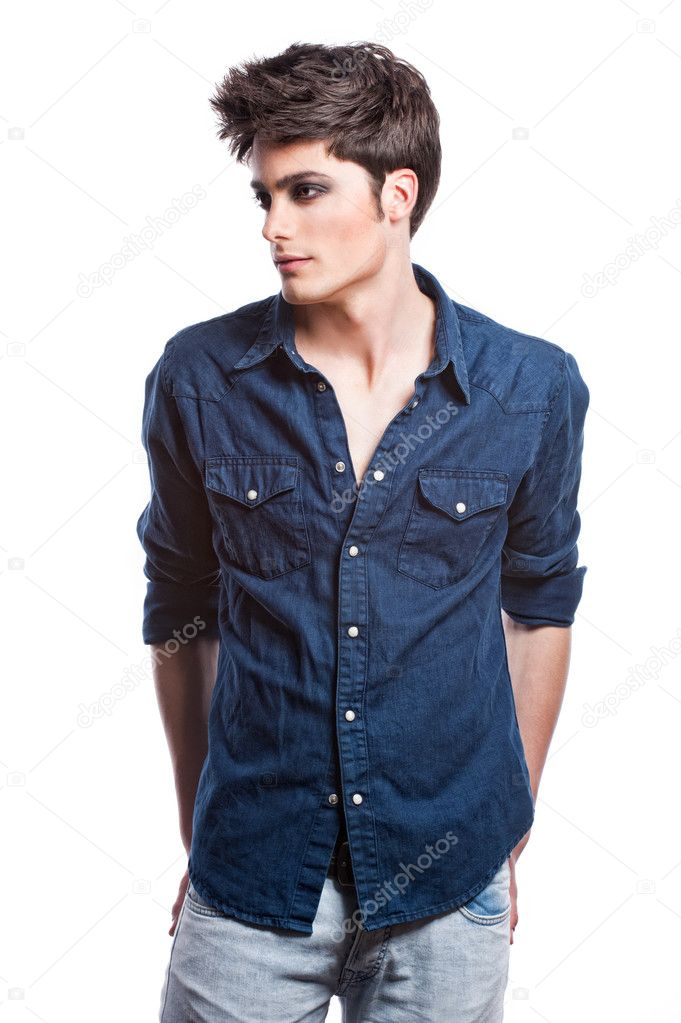 Male Model Poses for Photography