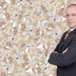Businessman with euro bills — Stock Photo #9514048