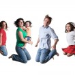 Jumping family — Stock Photo #9710606