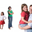 Just a happy family. — Stock Photo