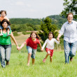 Running family — Stock Photo