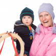 Family with sledge — Stock Photo #9713411