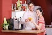 In cucina — Foto Stock