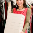 Stock Photo: Customer in clothing shop