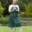Stock Photo: Senior gardener