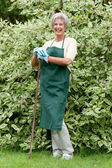 Senior gardener — Stock Photo